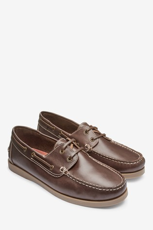 Chestnut Leather Boat Shoes