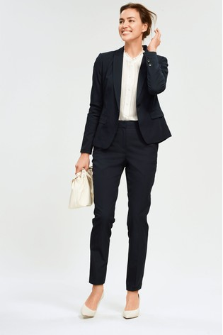Navy Single Breasted Tailored Fit Jacket