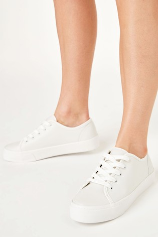 White Emma Willis Chunky Leather Trainers