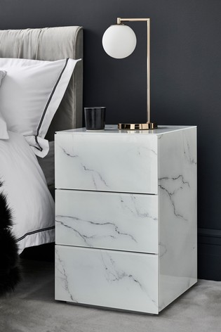 Sloane 3 Drawer Bedside Table