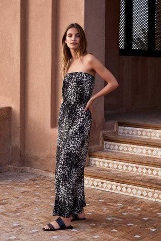 Mint Velvet Multi Tessa Strapless Maxi Dress