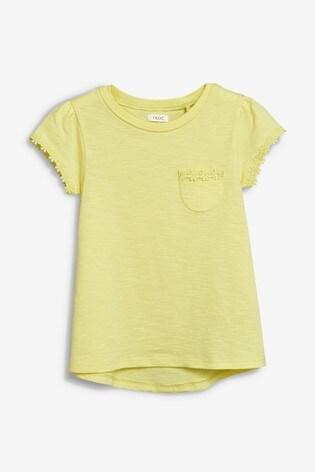 Yellow Daisy Trim T-Shirt (3-16yrs)