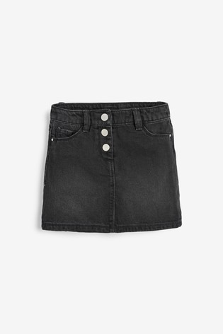 Black Button Front Skirt And Headband (3-16yrs)