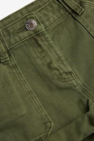 Khaki Turn-Up Denim Shorts (3-16yrs)