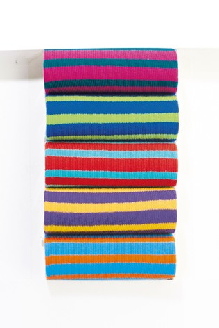 Bright Stripe Socks Five Pack