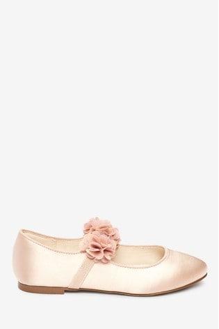 Pink 3D Flower Ballet Shoes (Older)