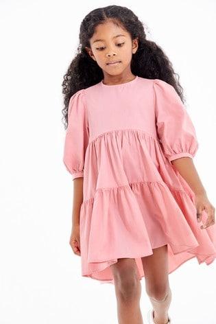 Pink Tiered Dress (3-16yrs)