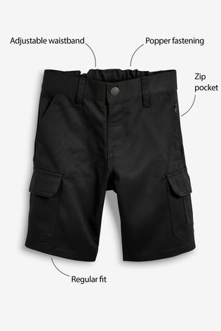 Black Combat Shorts (3-12yrs)