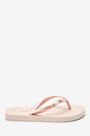 Rose Gold Flip Flops (Older)