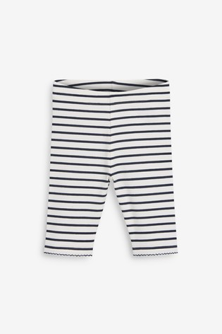 Navy/White Cropped Leggings (3mths-7yrs)