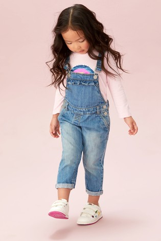 Mid Blue Dungarees (3mths-7yrs)