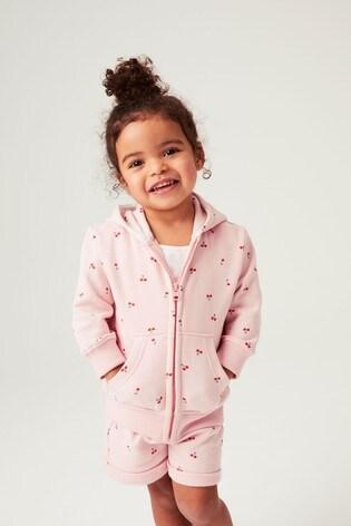 Pink Cherry Zip Through Hoody (3mths-7yrs)