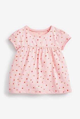 Pale Pink GOTS Organic Cotton T-Shirt (3mths-7yrs)