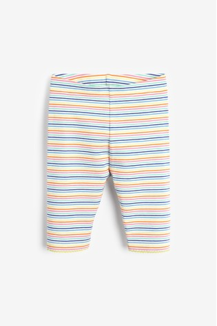 Rainbow Stripe Cropped Leggings (3mths-7yrs)