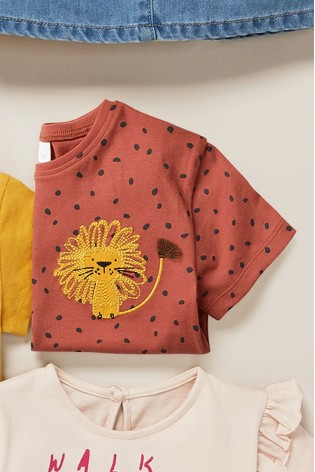 Rust Lion Appliqué Box T-Shirt (3mths-7yrs)