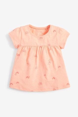 Orange Rainbow GOTS Organic Cotton T-Shirt (3mths-7yrs)