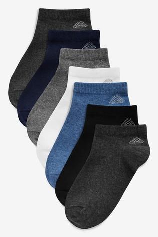 Multi Mixed Trainer Socks Seven Pack (Older)