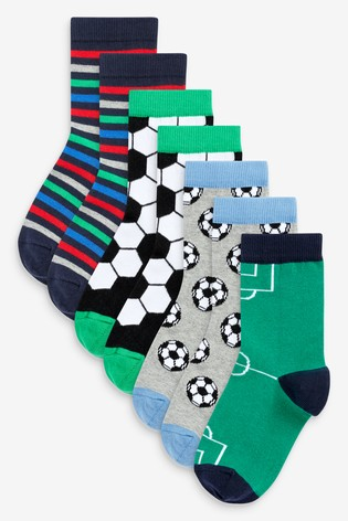 Bright 7 Pack Cotton Rich Football Socks (Older)