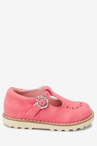 Pink Chunky T Bar Shoes (Younger)