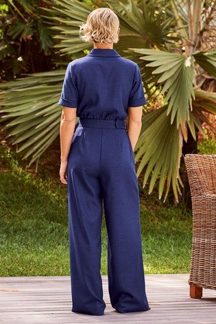 Navy Emma Willis Belted Jumpsuit