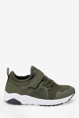 Khaki Elastic Lace Trainers (Older)