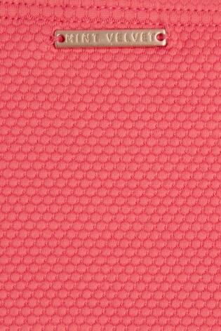 Mint Velvet Textured High Leg Bikini Briefs