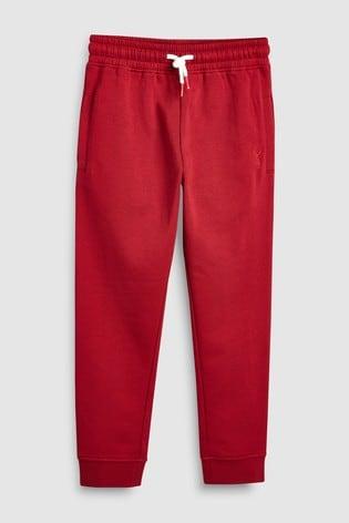 Red Slim Fit Cuffed Joggers (3-16yrs)
