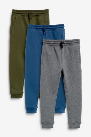 Multi Skinny Fit 3 Pack Joggers (3-16yrs)