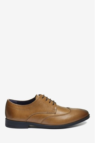 Tan Leather Formal Lace-Up Shoes (Older)