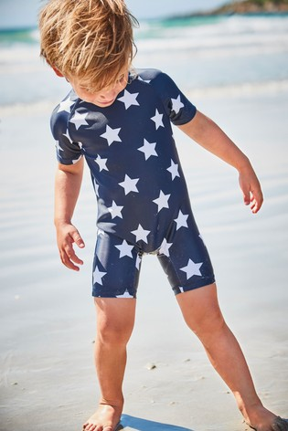 Navy Star Sunsafe Swimsuit (3mths-7yrs)