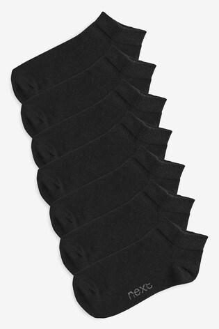 Black 7 Pack Trainer Socks (Older)
