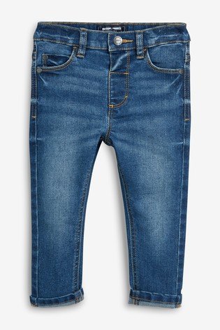 Mid Blue Regular Fit Jeans With Stretch (3mths-7yrs)