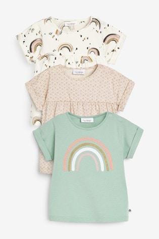 Multi 3 Pack Rainbow T-Shirts (0mths-2yrs)