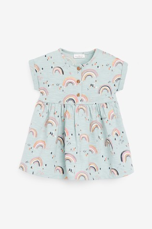 Light Teal Jersey Dress (0mths-2yrs)