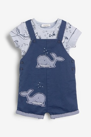 Denim Whale Dungarees And Bodysuit Set (0mths-2yrs)