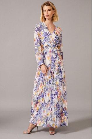 Phase Eight Multi Daryl Pleated Maxi Dress