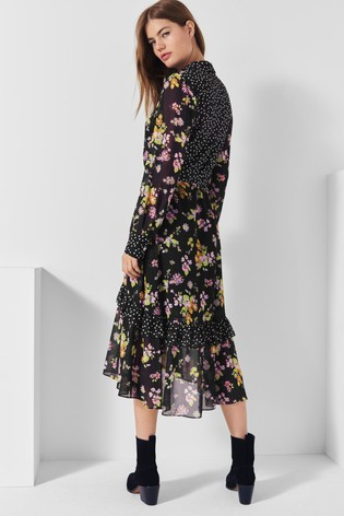 Next/Mix Floral Print Shirt Dress