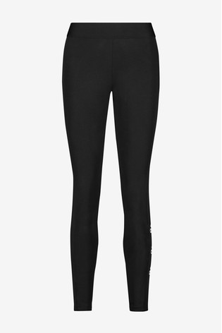 adidas Black Stacked Logo Leggings