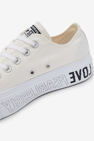Converse Love Fear Lift Ox Trainers
