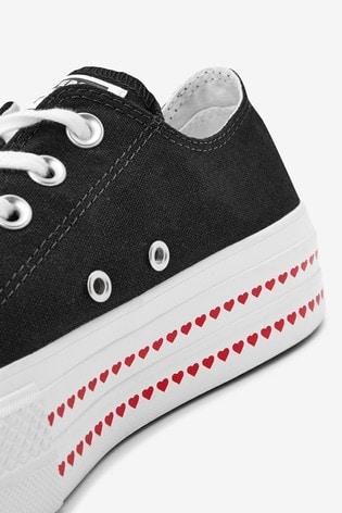 Converse Love Fear Platform Lift Ox Trainers