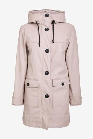 Pale Pink Rubber Rain Jacket