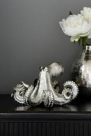 Silver Resin Octopus Ornament