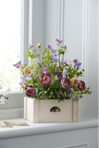 Artificial Floral In Window Box