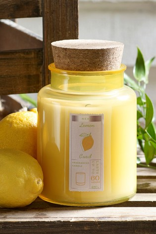 Lemon Curd Jar Candle