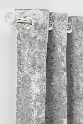 Chrome Extendable Diamanté Effect Ball 28mm Curtain Pole Kit