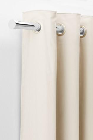 Chrome Extendable Stud End 35mm Curtain Pole Kit