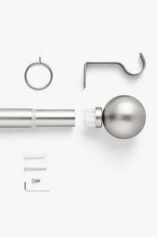 Ball Finial Extendable Curtain Pole Kit 35mm