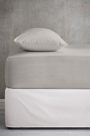 Grey Cool Touch Tencel 200 Thread Count Fitted Sheet