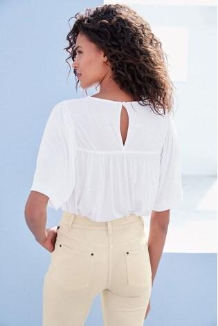 White Angel Sleeve Top