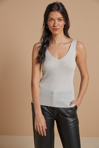 Silver Metallic Vest